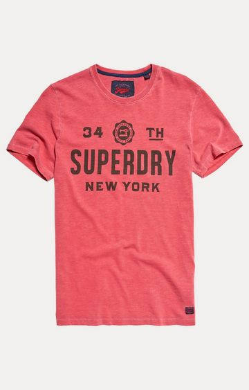 Superdry | Soft Red Printed T-Shirt