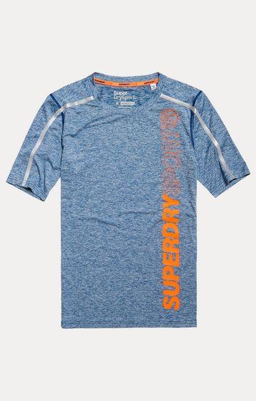 Superdry   Blue Printed T-Shirt
