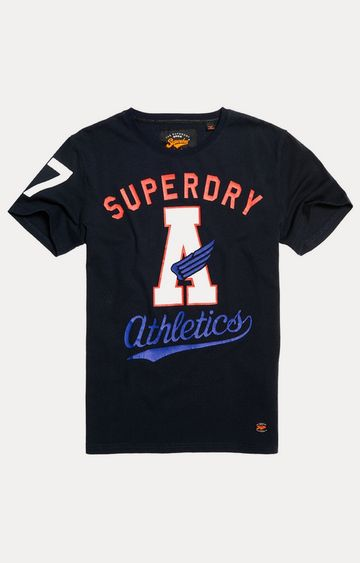 Superdry | Eclipse Navy Printed T-Shirt