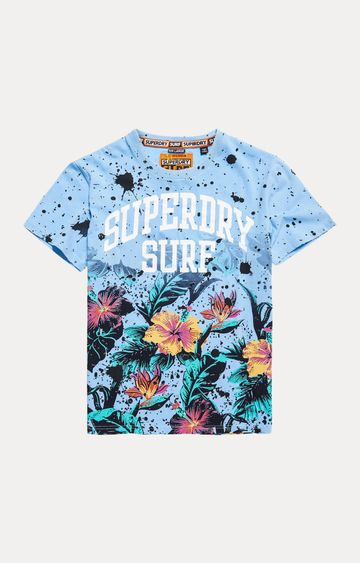 Superdry | Pastel Blue Printed T-Shirt