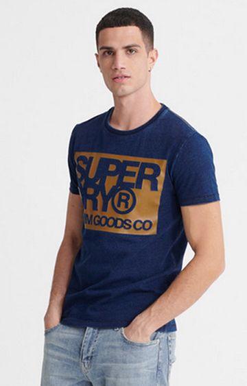 Superdry   Indigo Denim Goods Co Print T-Shirt