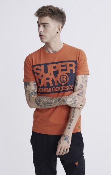 Superdry   Rust Denim Goods Co Print T-Shirt