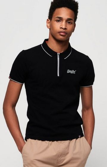 Superdry | Superdry Black Men Polo T-Shirt