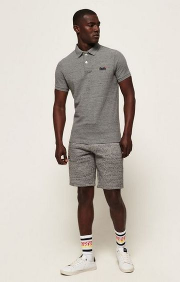 Superdry | Superdry Grey Men Polo T-Shirt