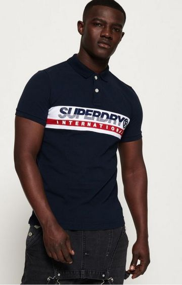 Superdry | Superdry Navy Men Polo T-Shirt