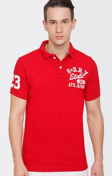Superdry | Red Solid T-Shirt