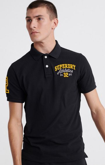 Superdry | Black Classic Superstate Polo Shirt