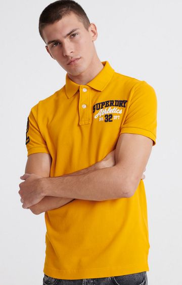 Superdry | Upstate Yellow Classic Superstate Polo Shirt
