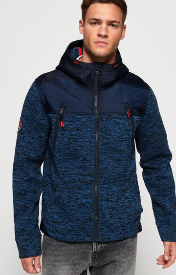 Superdry | Blue Melange Activewear Jacket