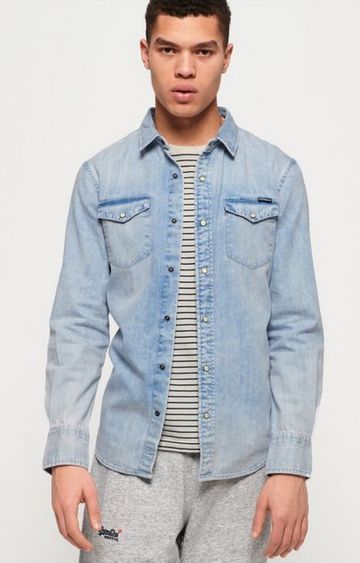 Superdry | Superdry Navy Men Casual Shirt