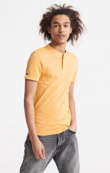 Superdry | Ochre Heritage Short sleeve Henley T-Shirt