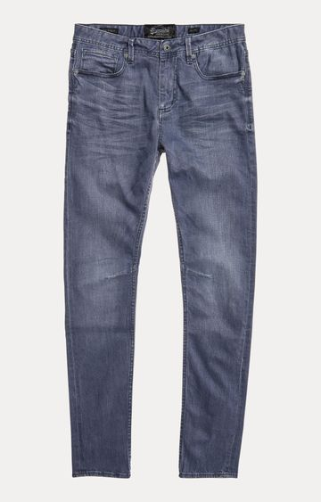 Superdry | Blue Solid Straight Jeans