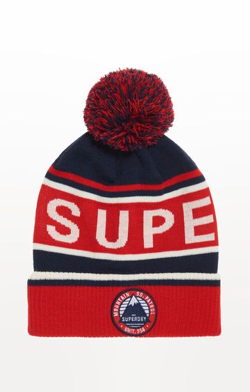 Superdry | Red Printed Beanie