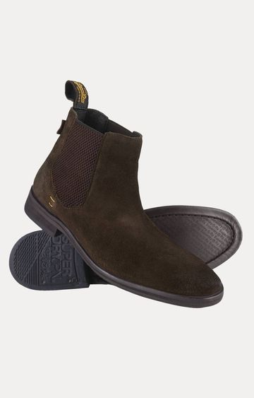 Superdry | Meteor Chelsea Brown Ankle Length Boots