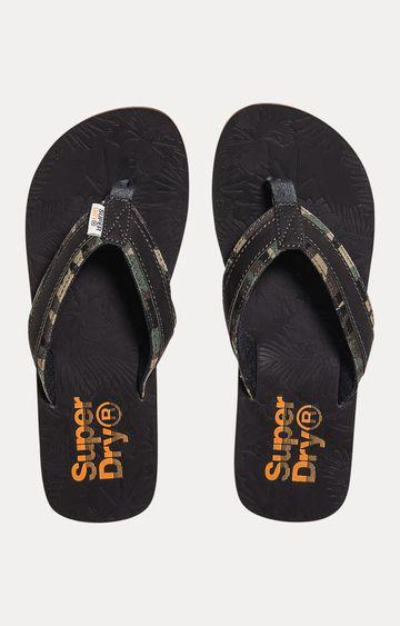 Superdry   Charcoal Flip Flops