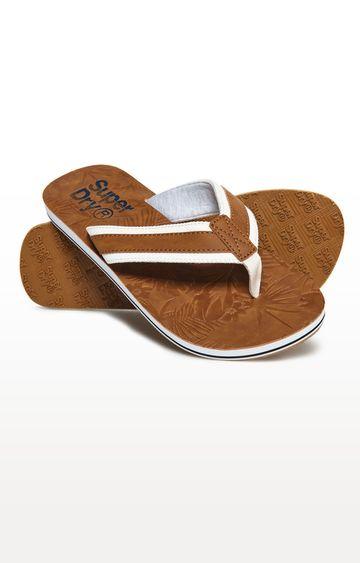 Superdry   Brown Flip Flops