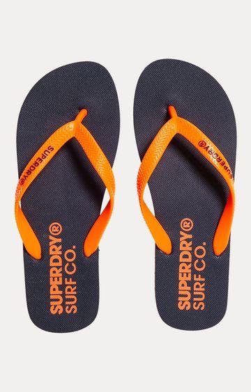 Superdry | Navy and Havana Orange Flip Flops