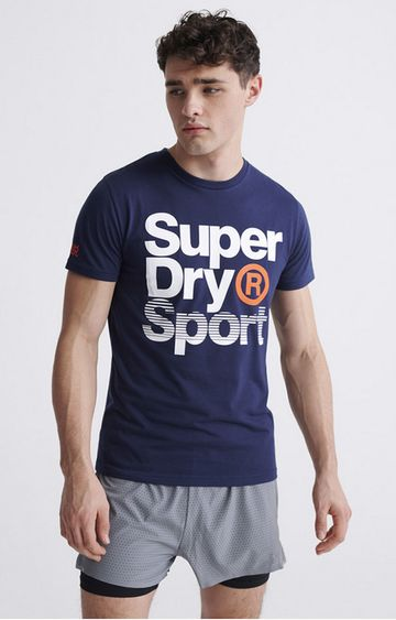 Superdry | Dress Blue Core Sport Graphic T-Shirt