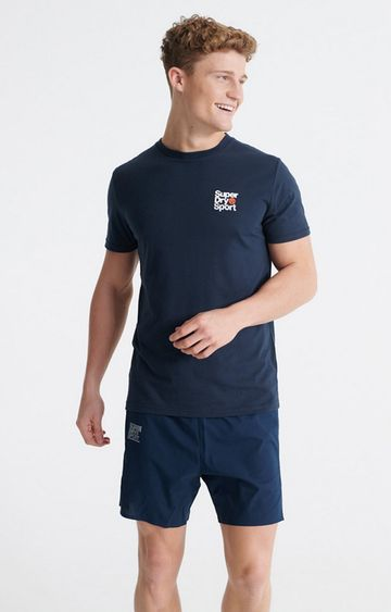 Superdry | Blue Core Sport Small Logo T-Shirt