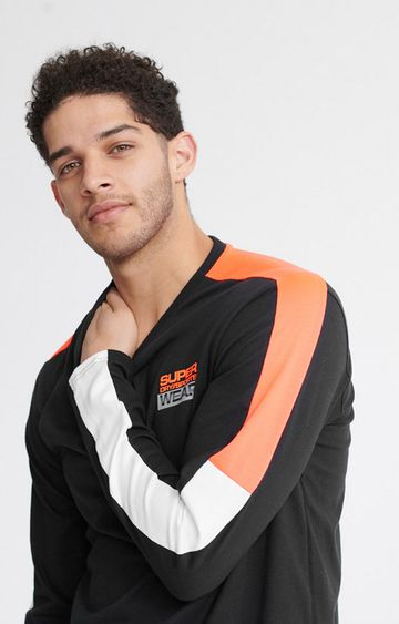 Superdry | Black Streetsport Long Sleeved Top