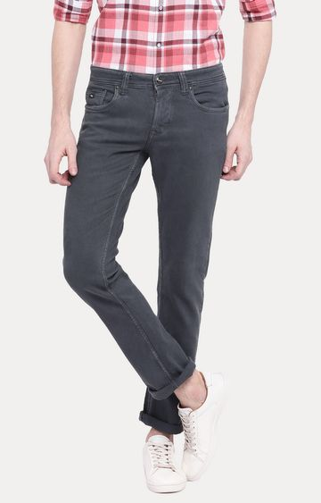 LAWMAN Pg3 | Grey Solid Straight Jeans
