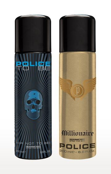 POLICE | To be and Millionaire Deo Combo Set - Pack of 2