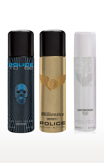 POLICE | Contemporary and To be and Millionaire Deo Combo Set - Pack of 3