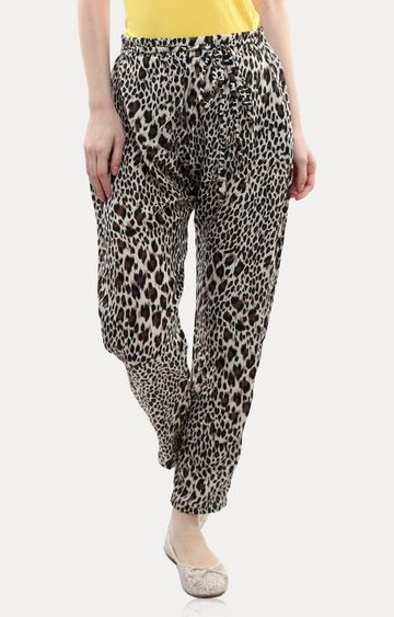 MISS CHASE | Black Spot On Leopard Print Pants