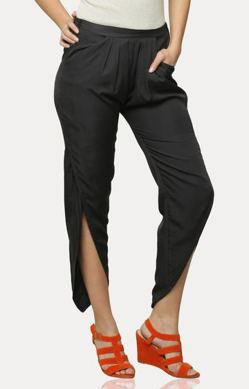 MISS CHASE | Black In The Details Overlap Pants