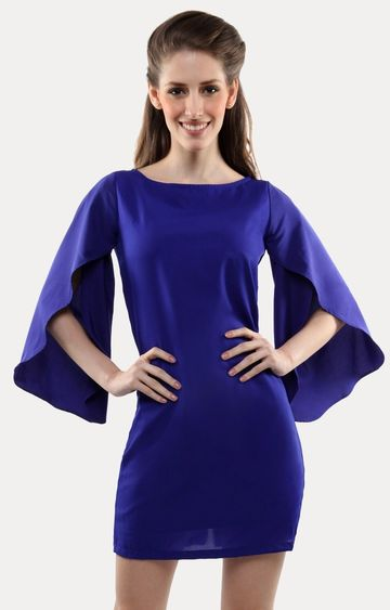 MISS CHASE | Blue Sheath Dress