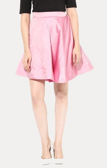 MISS CHASE | Pink Skater Skirt