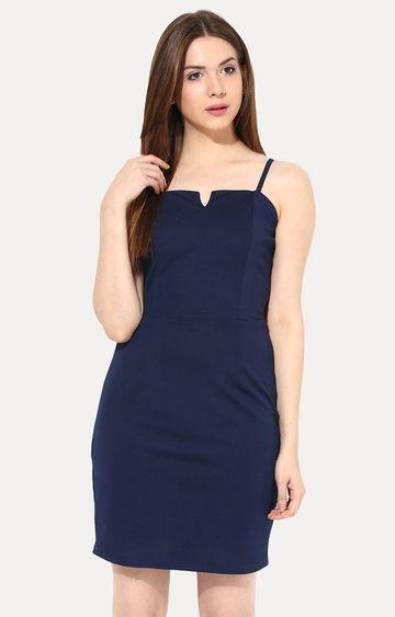 MISS CHASE   Dark Blue Sheath Dress