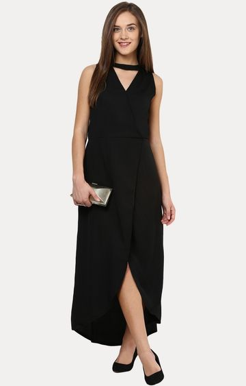 MISS CHASE | Black Classy and Sassy Maxi Dress