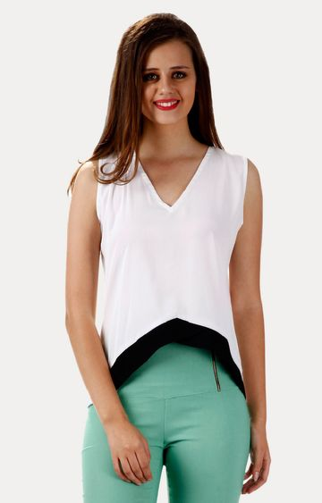 MISS CHASE | White Crop Top
