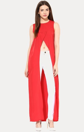 MISS CHASE | Red Open Book Maxi Top