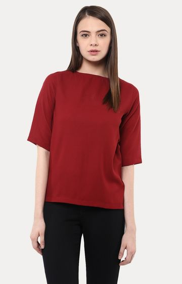 MISS CHASE | Maoon Solid Top