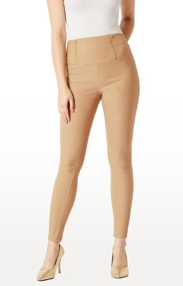 MISS CHASE | Beige Jeggings