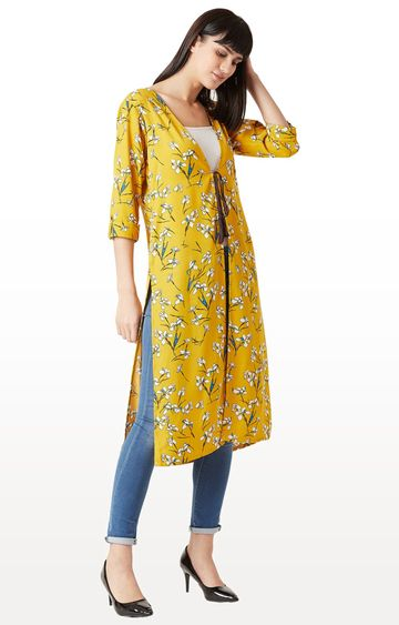 MISS CHASE | Yellow Floral Jacket