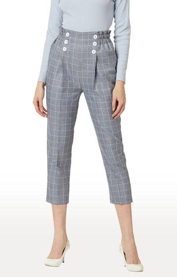 MISS CHASE | Grey Capri Pants