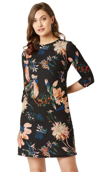 MISS CHASE | Multicoloured Floral Shift Dress