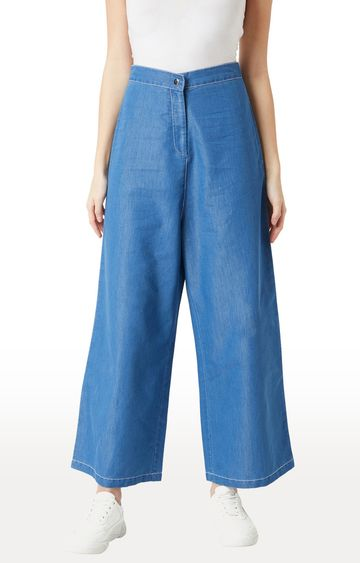MISS CHASE | Blue Solid Palazzos