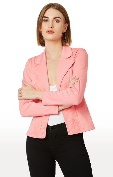 MISS CHASE | Pink Embroidered Jacket