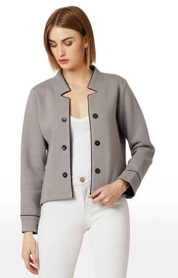 MISS CHASE   Grey Solid Jacket