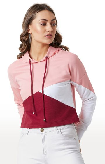MISS CHASE | Pink Colourblock Hoodie