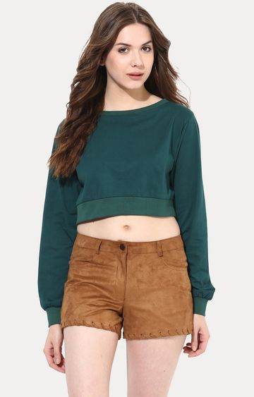 MISS CHASE | Green Big Is Beautiful Oversized Top