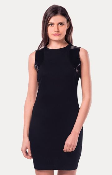 MISS CHASE | Black Bodycon Dress