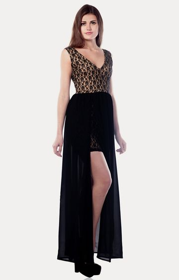 MISS CHASE | Black Immortal Beauty Maxi Dress