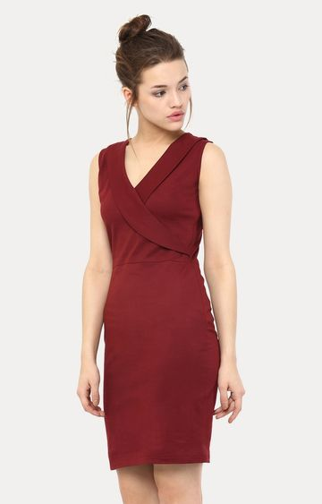 MISS CHASE | Maroon Forever Yours Bodycon Dress