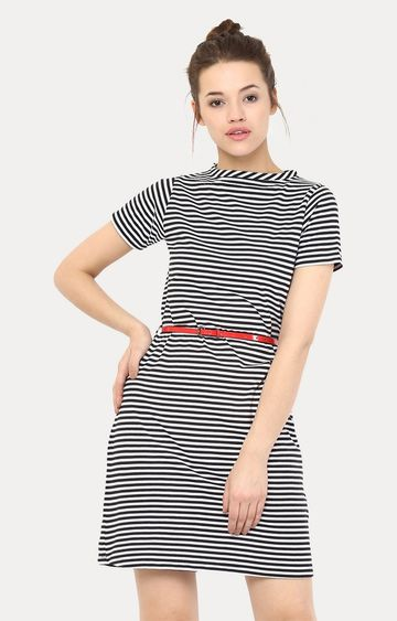 MISS CHASE | Multicoloured See Me Now Striped Shift Dress
