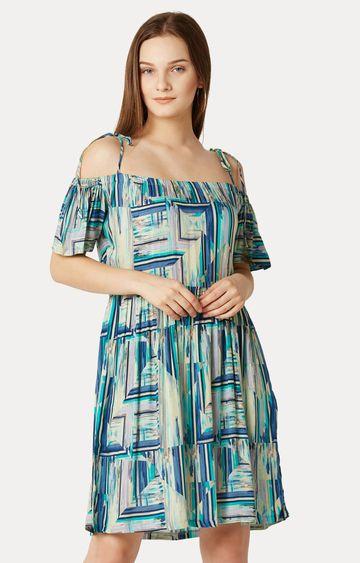 MISS CHASE | Multicoloured Off-Shoulder Bardot Dress